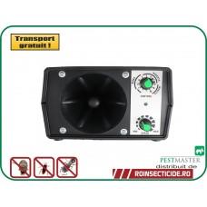 Pestmaster I40 dispozitiv industrial cu ultrasunete contra rozatoarelor, pasarilor si insectelor (400mp)
