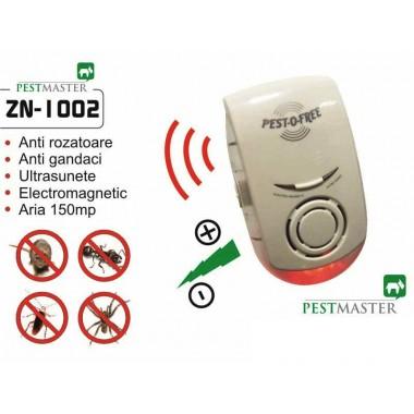 Pestmaster ZN1002 - Aparat cu ultrasunete si unde electromagnetice impotriva unui spectru de daunatori foarte larg, precum soareci, sobolani, rozatoare, insecte taratoare, gandaci de bucatarie, gandaci de Colorado, termite, capuse, carii de lemn