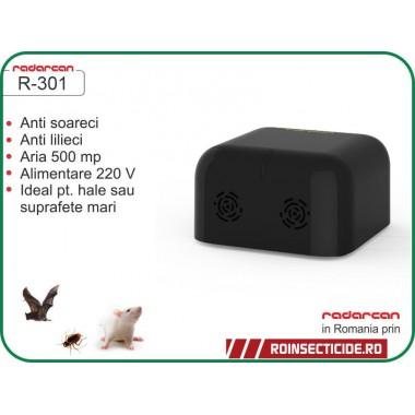 Aparat cu ultrasunete contra gandacilor,sobolanilor, liliecilor (500 mp interior) - Radarcan R-301