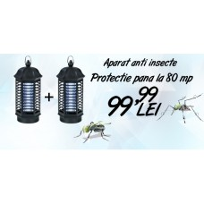 Oferta 2 aparate anti insecte cu lampa UV (80 mp) - Pestmaster IK 4