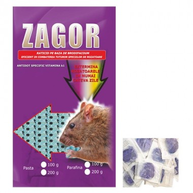 ZAGOR Raticid Pasta - 100 gr