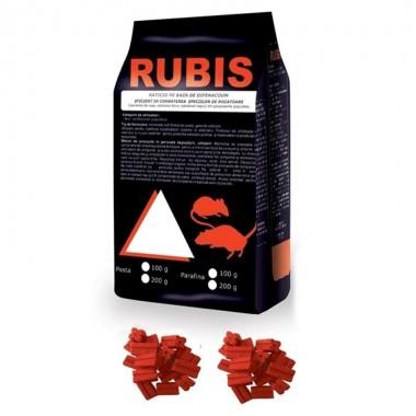 Rubis Raticid Parafina - 150 gr