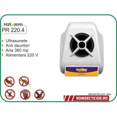 Aparat cu ultrasunete anti-lilieci,anti-gandaci,anti-rozatoare (360mp) - PR 220.4