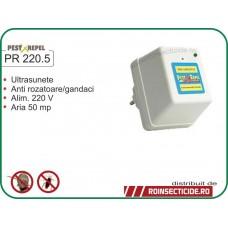 Aparat cu ultrasunete anti-gandaci ,anti-rozatoare (50mp) - PR 220.5