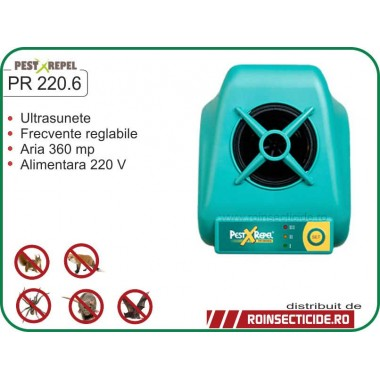Aparat cu ultrasunete anti-lilieci,anti-rozatoare,anti-vulpi,anti-veverite (360mp) - PR 220.6