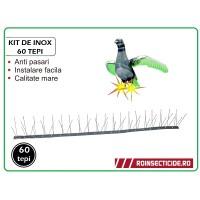 Kit de Inox 60 tepi - Anti pasari (lungime 1 m)