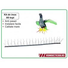Kit de Inox 80 tepi - Anti pasari (lungime 1 m)