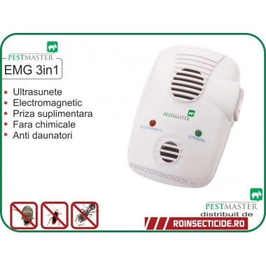 Aparat anti soareci, sobolani, insecte (200mp) - Pestmaster Repel EMG 3 in1
