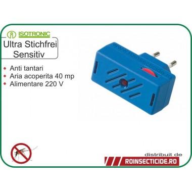 Aparat contra tantarilor cu ultrasunete senzitive (40mp) - Isotronic Ultra Senzitiv