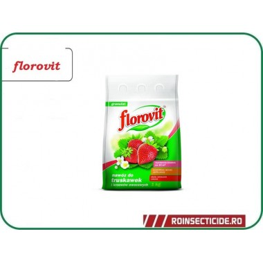 Ingrasamant specializat granulat pentru capsuni, fructe de padure si fragi - Florovit 1kg