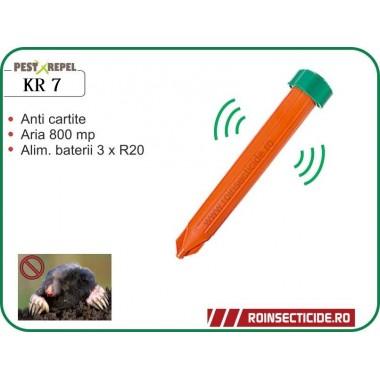 Dispozitiv electronic pentru combaterea rozatoarelor subterane (cartita, jder, dihor, sobolan de camp) 800mp - PestXrepel KR7