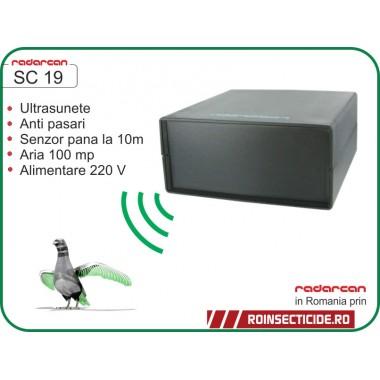 Aparat cu senzor de miscare si alarma acustica anti-pasari (100 mp) - Radarcan SC19