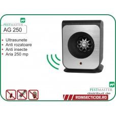 Aparat cu ultrasunete impotriva soarecilor, sobolanilor, gandacilor si altor insecte taratoare (250mp) - Pestmaster AG250