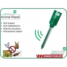 Dispozitiv cu senzor de miscare si alarma acustica antipisici,antipasari,antianimale (70mp) - Pestmaster Animal Repel