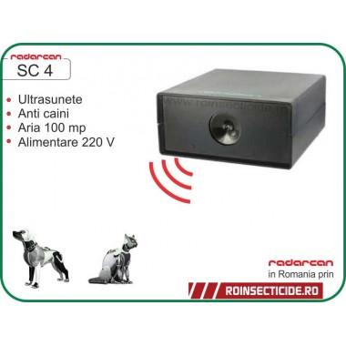 Aparat cu ultrasunete impotriva cainilor/pisicilor (500mp int/100mp ext) - Radarcan SC4