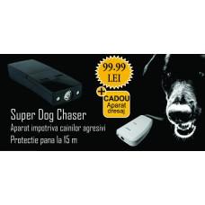 Aparat cu ultrasunete portabil anti caini (12m) - Pestmaster Superdog Chaser + Aparat portabil impotriva cainilor cu ultrasunete (15m) - Pestmaster AG015