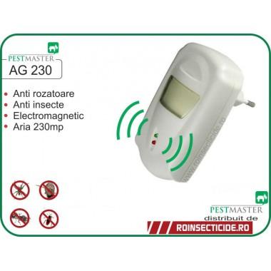 Pest Repeller Aparat cu unde electromagnetice anti gandaci,soareci, sobolani (230mp) - Pestmaster AG230