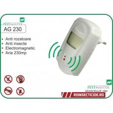 Aparat cu unde electromagnetice anti pajanjeni,gandaci,soareci,sobolani (230mp) - Pestmaster AG230
