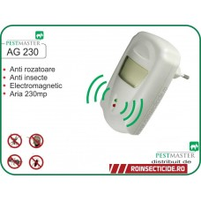 Aparat cu unde electromagnetice anti capuse,gandaci,soareci,sobolani (230mp) - Pestmaster AG230