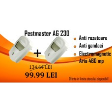 2 X Pest Repeller - Aparat cu unde electromagnetice impotriva soarecilor, sobolanilor, gandacilor, furnicilor (230mp) - Pestmaster AG230