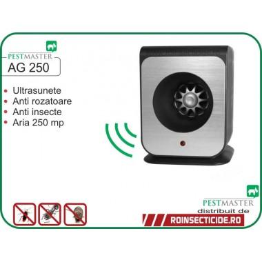 Aparat cu ultrasunete impotriva soarecilor, gandacilor si altor insecte taratoare (250mp) - Pestmaster AG250