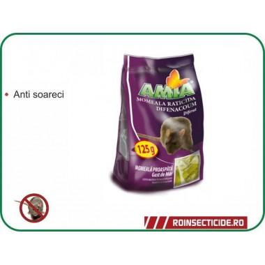 Momeala raticida utilizata pentru combaterea rozatoarelor Difenacoum 125 gr.