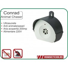 Aparat cu ultrasunete anti veverite,caini,pisici,animale nedorite (200mp) Conrad Animal Chaser
