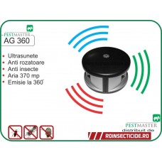 Aparat cu ultrasunete impotriva soarecilor si insectelor ce acopera 370mp la 360 grade - Pestmaster AG360