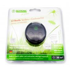 Aparat portabil cu lanterna impotriva paienjenilor si gandacilor de bucatarie L3Beetle 70510 30mp interior, raza 6m exterior