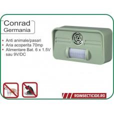 Aparat cu ultrasunete si senzor de miscare impotriva pisicilor si cainilor (70mp) - Conrad