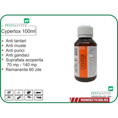 NOU ! Insecticid anti insecte,anti gandaci,anti purici,anti daunatori Cypertox 100ml