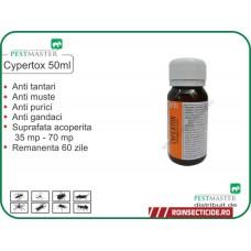 NOU ! Solutie gandaci, anti purici, anti insecte daunatoare Cypertox 50ml
