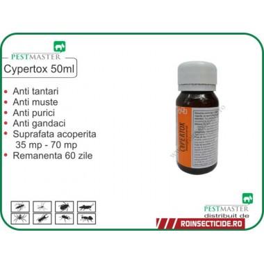 Solutie gandaci, anti purici, anti insecte daunatoare Cypertox 50ml