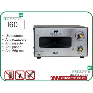 Aparat industrial cu ultrasunete anti rozatoare, anti insecte, anti pasari  - Pestmaster I60 - 660 mp