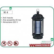Mini distrugator anti insecte cu lampa UV (aprox. 40 mp) - Pestmaster IK 4
