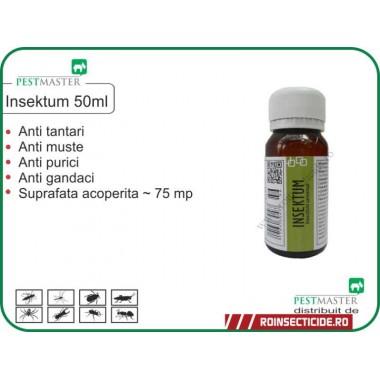 Solutie anti gandaci,anti insecte zburatoare si taratoare Insektum 50ml