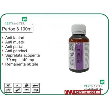 Insecticid impotriva insectelor zburatoare si taratoare Pertox 8 100ml