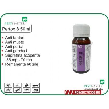 Solutie impotriva gandacilor,puricilor si altor insecte daunatoare Pertox 8 50 ml