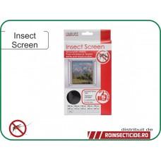 Plasa anti insecte pentru ferestre 100x130 cm - alba/neagra
