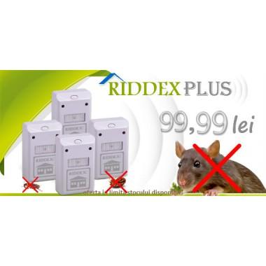 Aparat anti soareci, sobolani, gandaci de bucatarie Riddex Plus (pachet promo 4 buc.)
