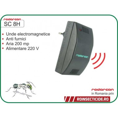 Radarcan SC 8H Aparat cu unde electromagnetice anti-furnici (200mp) - REDUCERE -35%
