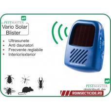 Aparat cu ultrasunete anti tantari,anti-gandaci,anti-soareci,sobolani cu frecventa reglabila pentru fiecare  tip de daunator (40 mp) - Pestmaster Vario Schutz Solar